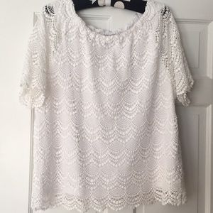 Worn once ! Gorgeous Talbots lace top
